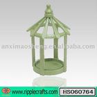 Green Round Pavilion Wood Bird Feeder
