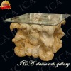 marble table with glass tabletop YT0096