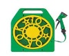 Water Hose Reel With 15M Flat Hose And 7-Dial Function Nozzle