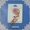 2012 hot fuchsia flower pin brooch