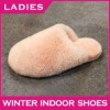 Pink color warm Austrilia sheepskin slipper newest lady slipper