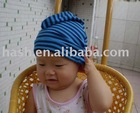 striped knitted baby hat (MSH0247)