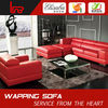 cow red leather modern style design sofa 2031