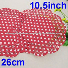 250 Red Paper Polka Dot Doilies Doyleys Doily Mat Retro Paper Doilies table decorations