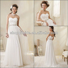 Free Shipping QNWD1129-01 Classical Strapless Beaded And Flowers Wedding Dresses