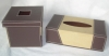 Elegant customized leather tissue box tissue box cover