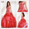 1789-1hs 2012 Elegant Strapless Appliqued Red Fold ball gown wedding dresses Floor Length pictures