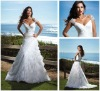 Organza Tiered Ruched Cathedral Train Wedding Dress