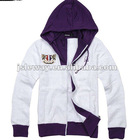 Women's jackets hoodie coat print fabric warm up/fashion jacket 2013 lady/lesiure wind coat