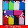 Many colors Hello kitty bowknot design Silicone Skin Case Cover For Ipod Touch 4