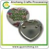 Low price heart shaped Tin Button badges ACBD889A