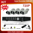 720P net surveillance complete ip waterproof cameras nvr kits