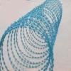Galvanized razor barbed wire for army