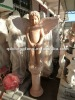 High quality red marble angel water fountain