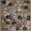 Natural river pebble