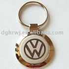 VW gold key chain