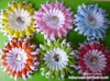 "Promotion 12 Pairs s 4"" polka dots gerbera daisy flower +clip+headband /lot"