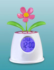 Cute flower bud talking clock