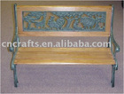 Classic Wooden and Cast Iron Garden Bench
