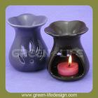 Brown glazed Scented ceramic warmer