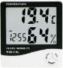 accuracy room thermometer and hygrometer shows time, moisture and temperature on its digital display