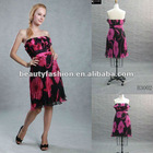 2012-2013 red/black color off shoudler bow great summer season elegant cocktail & ball eveing dresses & wedding dresses