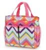 Fashion colourful wave design ladies handbag (CS-302447)