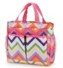 Fashion colourful wave design ladies handbag (CS-302447)