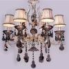 Amber color crystal chandelier light