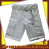Washed mens cargo short with 6 pockets