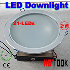 21W led Downlight ceiling light with 21 led lights 85~265V