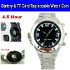 Battery & TF Card Replaceable 640*480 HD Digital Watch Video Recorder