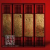 Q258-72 4 Pieces Decorative Indoor Wooden Frame Folding Screen