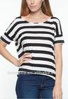 2012 Striped tee t-shirt for women HST622