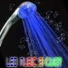 Colorful led shower with music