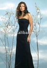 fyclothes 2011 New sexy strapless black Bridesmaid dresses prom dresses evening gowns size S-6XL HSP0005