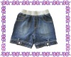rib waistband denim girl hot shorts