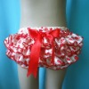 Heart baby ruffle satin bloomer