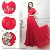 L1281 Real Sample New Fashion Lady Long Evening Dresses With Cappa