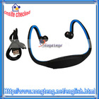 Fashionable !! Sport MP3 Player Headphone Blue