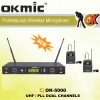 OK-5000 Dual Channels/UHF PLL 32/99 channels UHFmicrophone