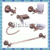 $ 15 each set, zinc alloy 6 pcs toilet accessories set red bronze finish (E2100 range)