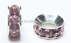 Rose crystal rhinestone rondelle beads in bulk