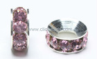 Rose crystal rhinestone rondelle beads in bulk