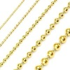 TN96 High Quality 18KT Gold Ball Chain