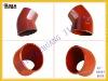 EN877 cast iron pipe fitting 45DGR short bend