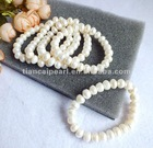 7-7.5inch natural white strand freshwater pearl 8-9mm
