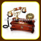 Wooden Caller ID China Antique Telephone