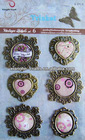 Designed metal flower embellishment for paper craft