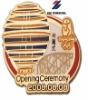 Delicate design metal badge